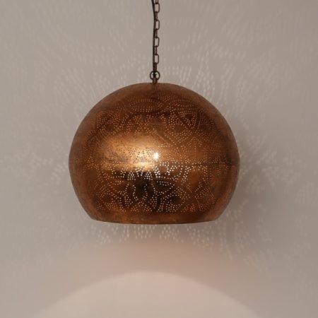 Oosterse lamp | Filigrain | Marokkaanse lamp | Arabische lampen | Koper | Open onderkant | Hanglamp