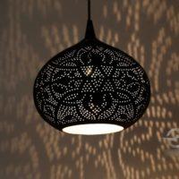 Oosterse lamp filigrain moderne Oosterse lampen Arabisch filigrain zwart zilver sfeerverlichting