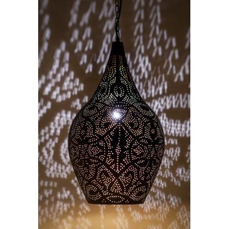 Oosterse lamp | Marokkaanse lampen | Arabische hanglamp | Filigrain | Zwart vintage goud | Metaal | Oosterse lampen
