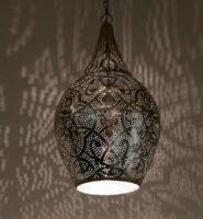 Oosterse lamp Filigrain style vintage zilver Arabische hanglamp