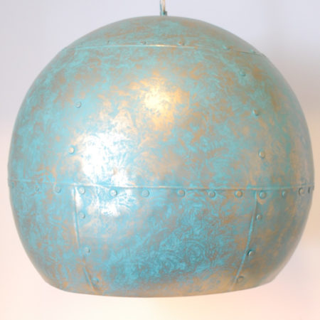 Oosterse lamp | Industriele stijl | metaal | blauw | goud | Open onderkant | Arabische lamp | Marokkaanse lampen