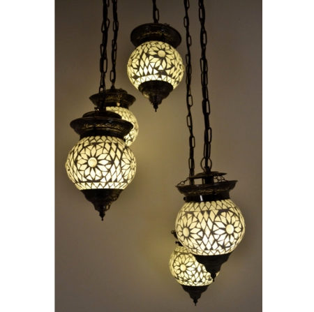 Oosterse hanglamp | Mozaiek | Marokkaanse lampen | Oosterse lamp | Arabische sfeerverlichting | Oosters interieur