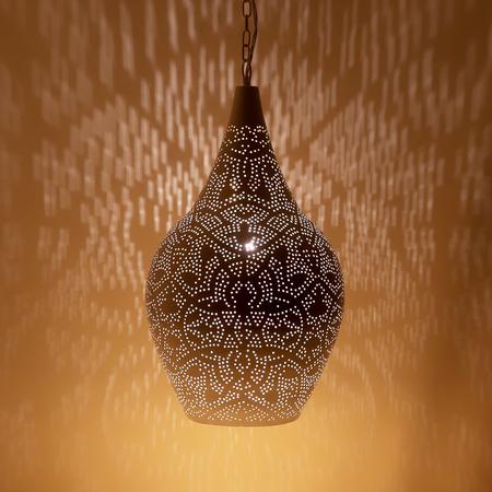Oosterse lamp met wit goud filigrain prachtige Arabische lampen voor een scherpe prijs! Grootste collectie Oosterse lampen