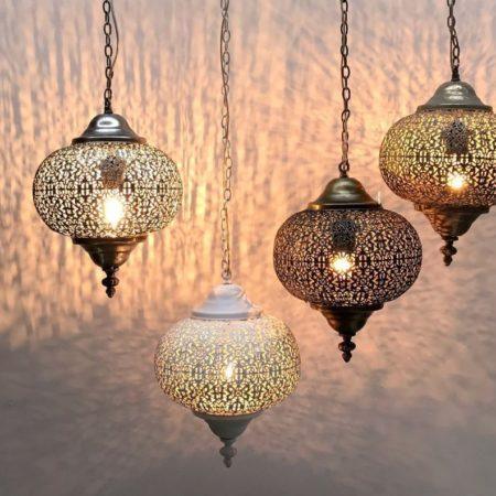 Oosterse lampen | Set van 4 | Moderne Oosterse lampen | Scherpe prijzen | Arabisch filigrain | Marokkaanse lampen