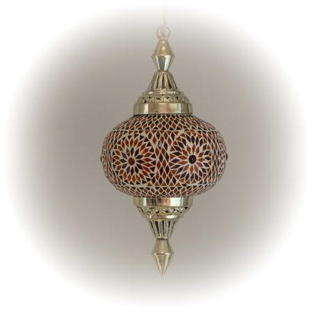 Mozaiek hanglamp pompoen rood oranje | Oosterse lampen | Marokkaanse lamp