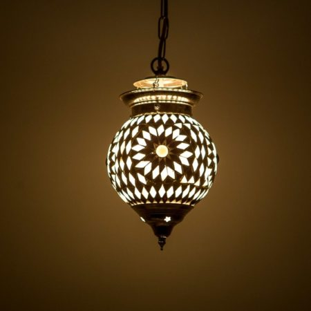 Oosterse lampen mozaïek hanglamp met Arabische uitstraling zwart wit ruime collectie scherpe prijs!