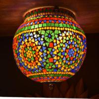 Oosterse plafondlamp | Glasmozaïek | Mozaïek lamp | Mullti- colour | Oosterse lampen | Marokkaanse lamp | Sfeerverlichting | Geschikt voor vochtige ruimtes