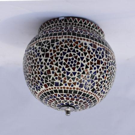 Oosterse plafonniere | Kleurrijke Oosterse lampen | Multi-colour | Bolvormige plafondlamp | Marokkaanse sfeerverlichting | Snel geleverd | Beste prijzen | Oosterse lamp