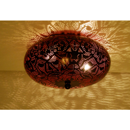 Oosterse plafonniere | Marokkaanse lampen | Arabische lamp | Gaatjes lamp | Metaal plafondlamp