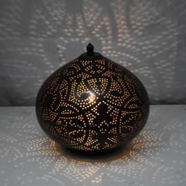Oosterse tafellamp zwart goud filigrain | Kleine Oosterse tafellamp | Oosterse lampen beste prijzen altijd gratis verzenden