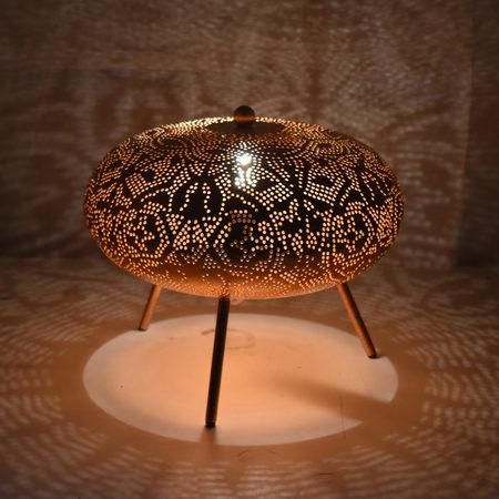 Oosterse tafellamp met prachtig Vintage koper filigrain | Sfeervolle Oosterse lampen voor elke plek in het interieur | Beste prijzen, snelle levering & gratis verzenden!