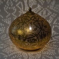 Oosterse tafellamp | Filigrain | Vintage goud | Arabische lampen | Oosterse lamp