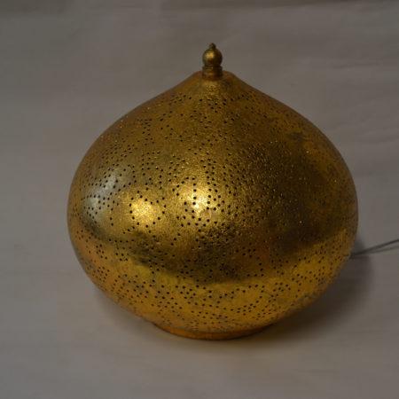 Oosterse tafellamp | Arabisch vintage goud | Gaatjes | Metaal | Marokkaanse lamp | Oosterse lampen