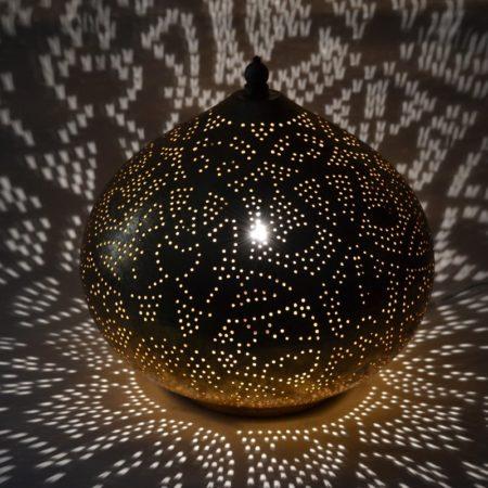 Oosterse tafellamp | Vintage goud | Gaatjes patroon | Arabische lamp | Oosterse lampen