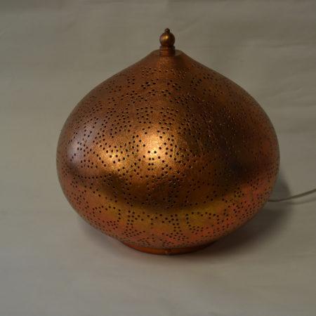 Oosterse tafellamp | Marokkaanse lampen | Vintage koper | Gaatjes lamp | Oosterse lampen