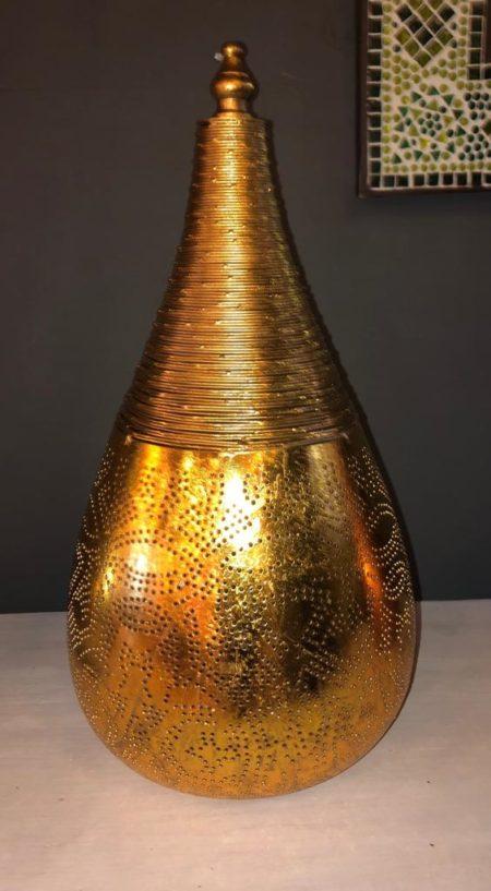 Oosterse tafellamp | Filigrain | Vintage goud | Marokkaanse lampen | Oosterse lampen