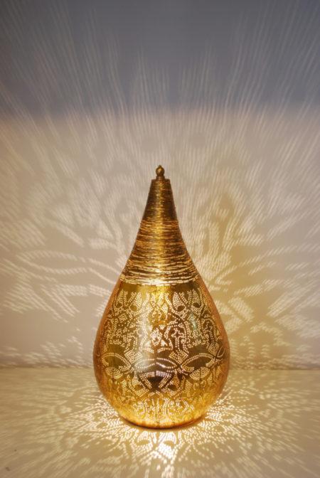 Oosterse tafellamp | Marokkaanse lampen | Arabisch filigrain | Vintage goud | Amsterdam