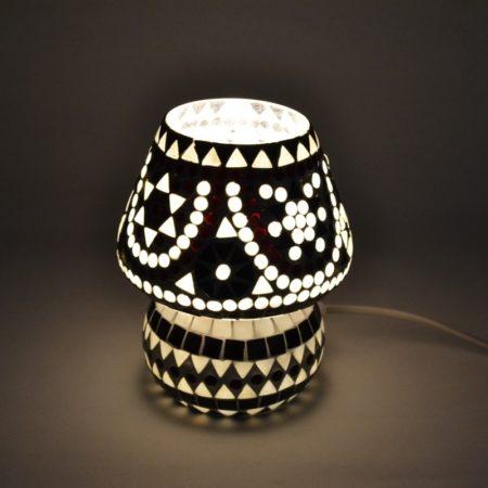 Oosterse tafellamp | Marokkaanse lampen | Mozaiek | Zwart wit | Oosterse lampen | Amsterdam | Rotterdam | Arab lamp