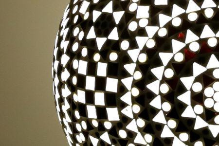 Oosterse tafellamp | Mozaïek | Zwart Wit | Arabische lampen | Oosterse lampen specialist