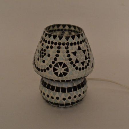Marokkaanse tafellamp | Oosterse lampen | Mozaiek | Zwart wit | Arabisch interieur | Online