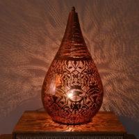 Oosterse tafellamp | Vintage koper | Filigrain | Marokkaanse lamp | Arabisch interieur