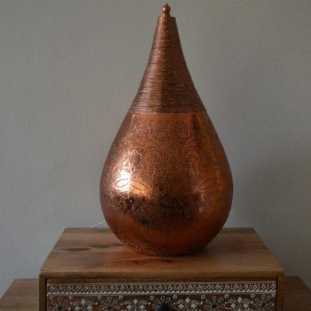Oosterse tafellamp | Filigrain | Arabische lampen | Vintage koper | Oosterse lampen
