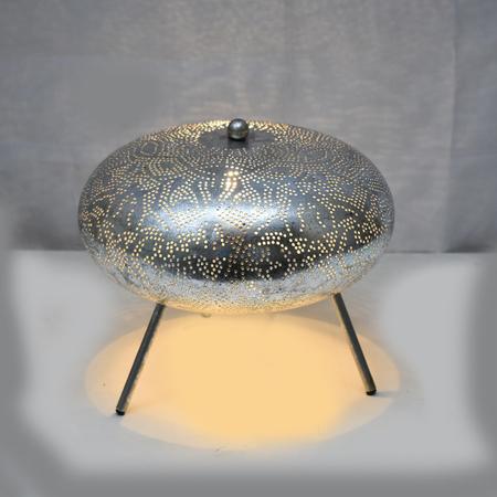 Oosterse tafellamp | Zilver | Oosterse lamp | Filigrain lampen | Snelle levering altijd gratis verzenden oosterselampen.nl