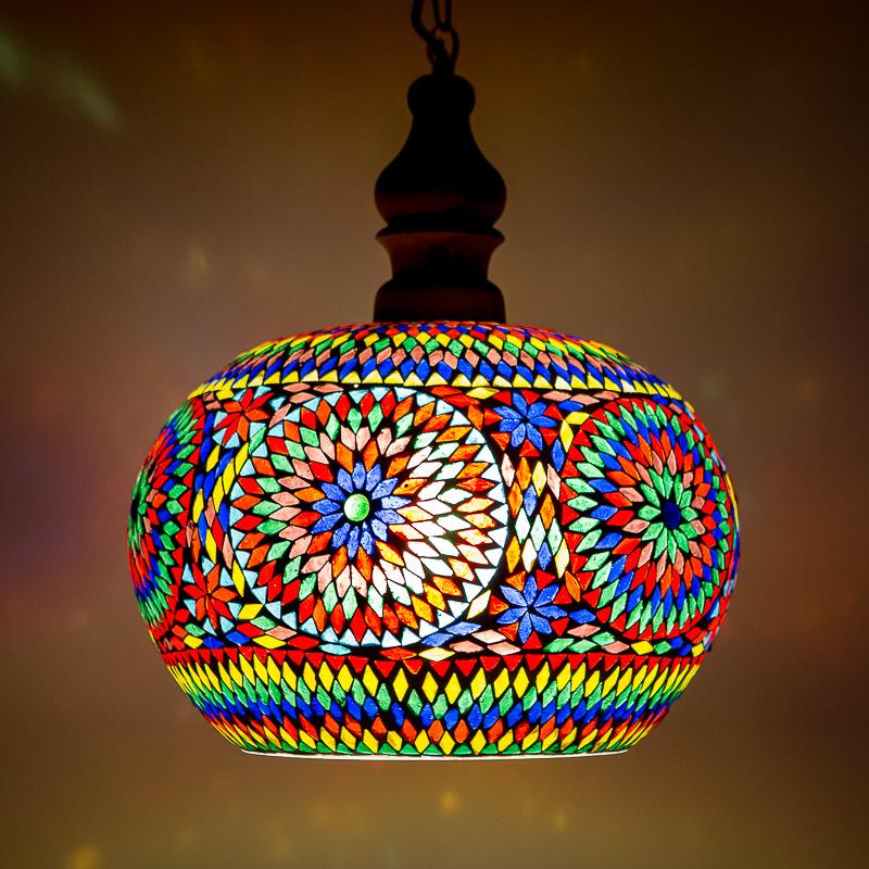 Oostersehanglamp|Eettafel|lamp|Tafellamp|Mozaïek