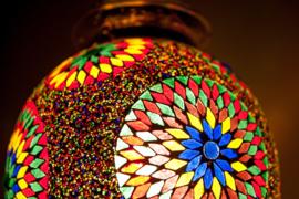 Oosterse Mozaïek Lamp Met Kralen Turkisch Design Sfeervol Amsterdam