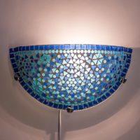 Oosterse|Wandlamp|Blauw|Mozaiek