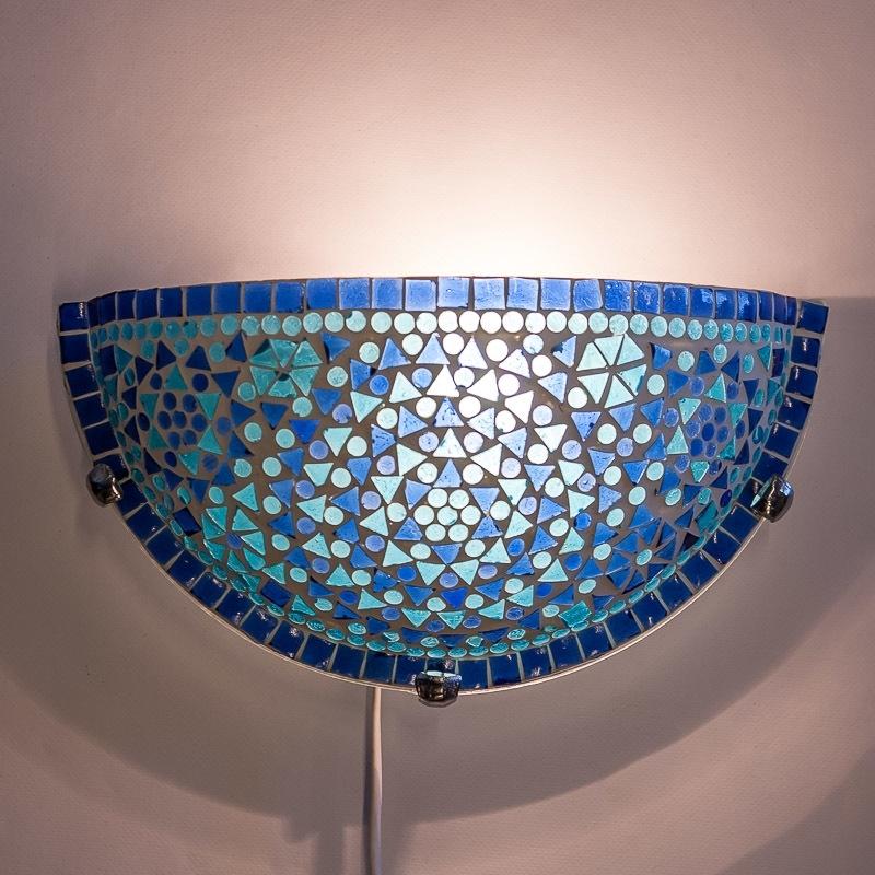 Wandlamp|Blauw|Mozaiek|Oosterse|Lampen