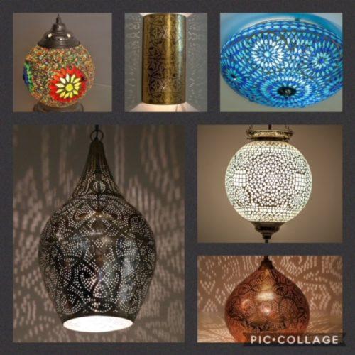 Oosterse lampen | Romantisch interieur | Marokkaanse lamp | Arabische verlichting | Mozaïek | Filigrain