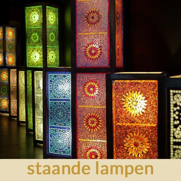 Marokkaanse|Staande|lampen|Mozaiek|Oosters