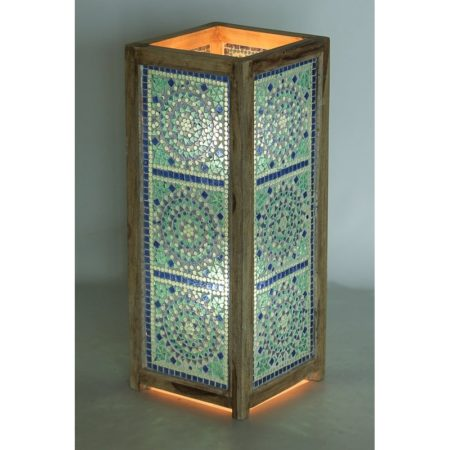 blauwe|Mozaiek|Lamp|Oosterse|Lampen