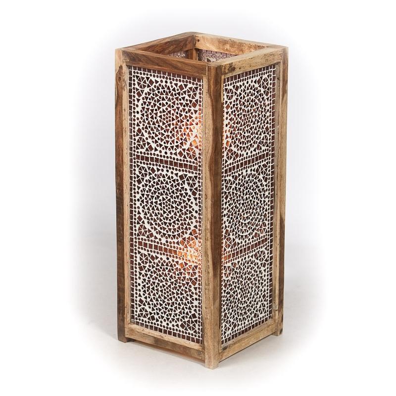 Oosterse|Staande|Lamp|Mozaiek|Paars