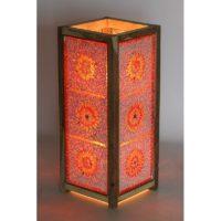 Vloerlamp|Oosters|Mozaiek|Rood|Oranje