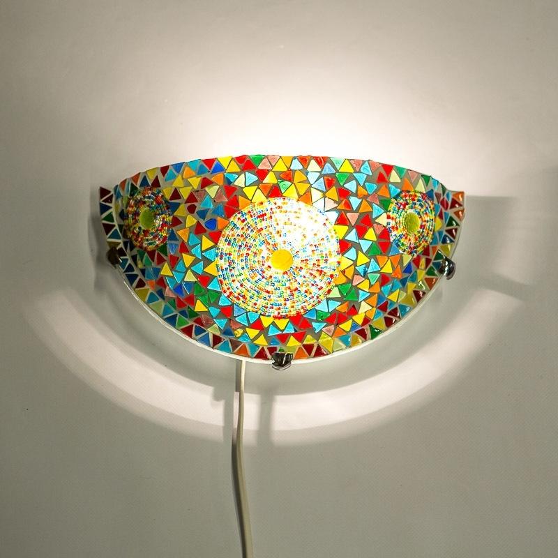 Mozaïek|Wandlamp|Halve|Maan|Oosterse|Lampen