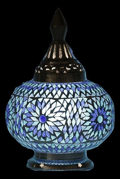 Oosterse tafellampen glasmozaiek en filigrain