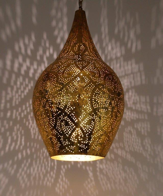 Oosterselamp filigrain Egyptischelamp gaatjeslamp