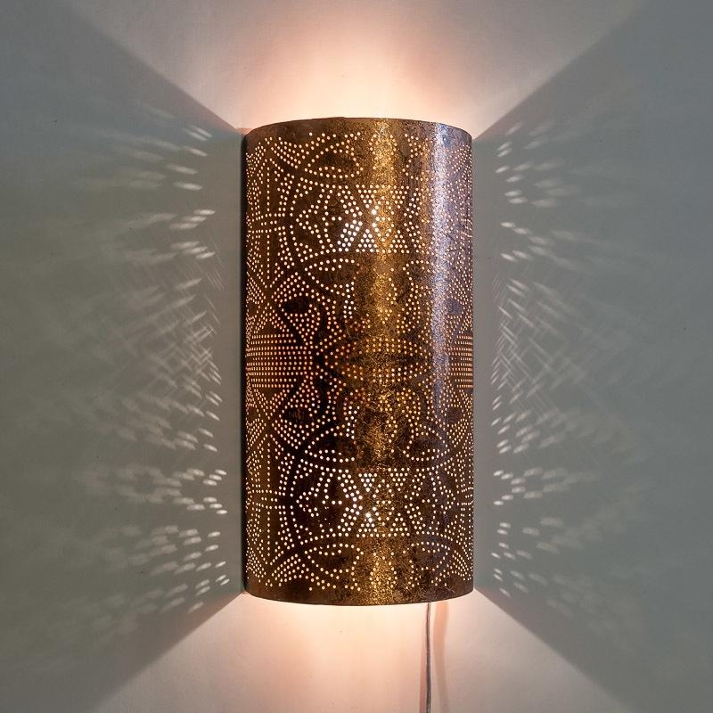 Vintage|Koper|Filigrain|Wandlamp|Oosters|Interieur