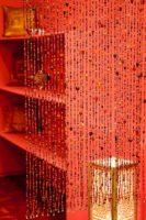 kralengordijn | vliegengordijn | rood oranje | Oosters interieur