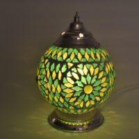 Groene|Turkish|Design|Mozaïek|Tafellamp