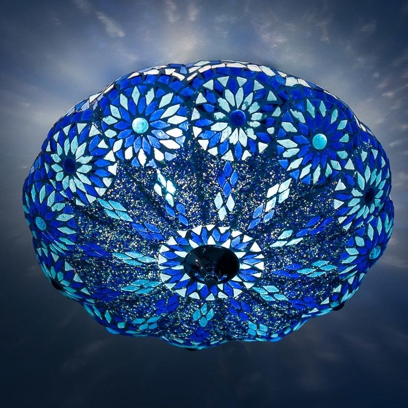 mozaïek|blauw|plafonnière|oosters|inrichting