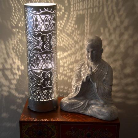 Oosterse tafellamp filigrain | Marokkaanse gaatjes lamp | Metaal