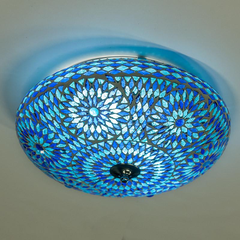 Arabische|Lamp|Mozaïek|Blauw|Meerdere|Maten