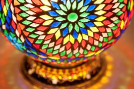 Papaya tafellamp Mozaiek Oosterse lampen