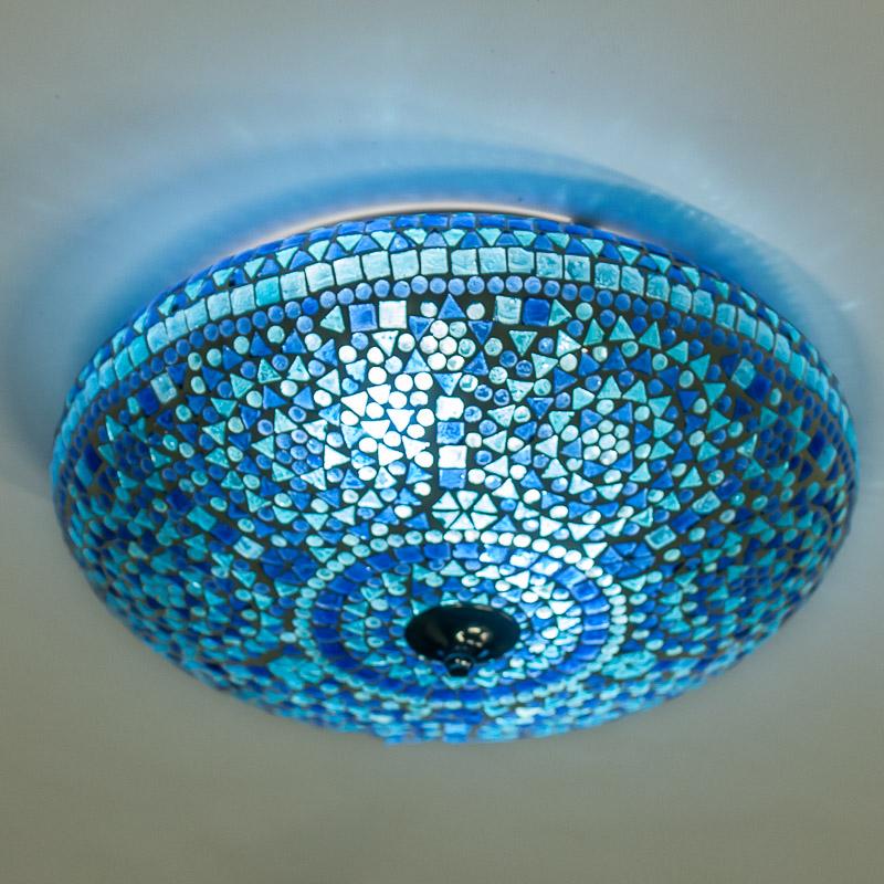 Arabische|Lampen|Mozaïek|Blauw