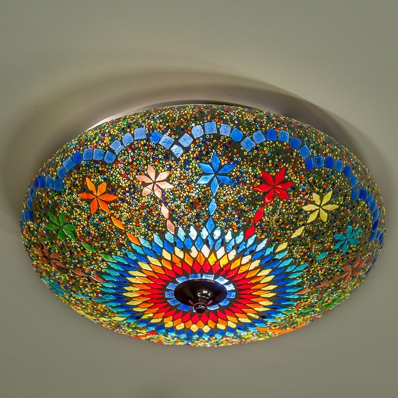 Mozaiek|plafonniere|Oosterse|Sfeer