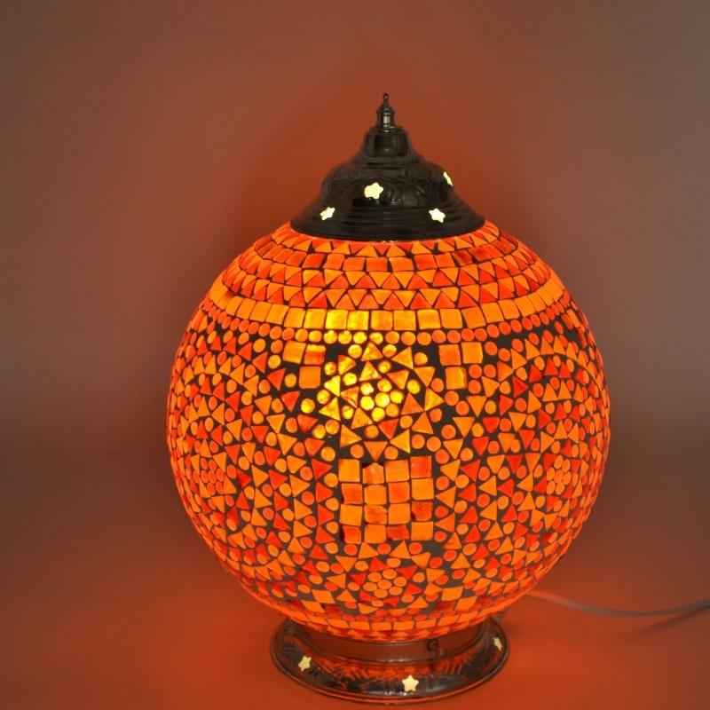 Traditioneel|Indian|Tafellamp|Mozaiek