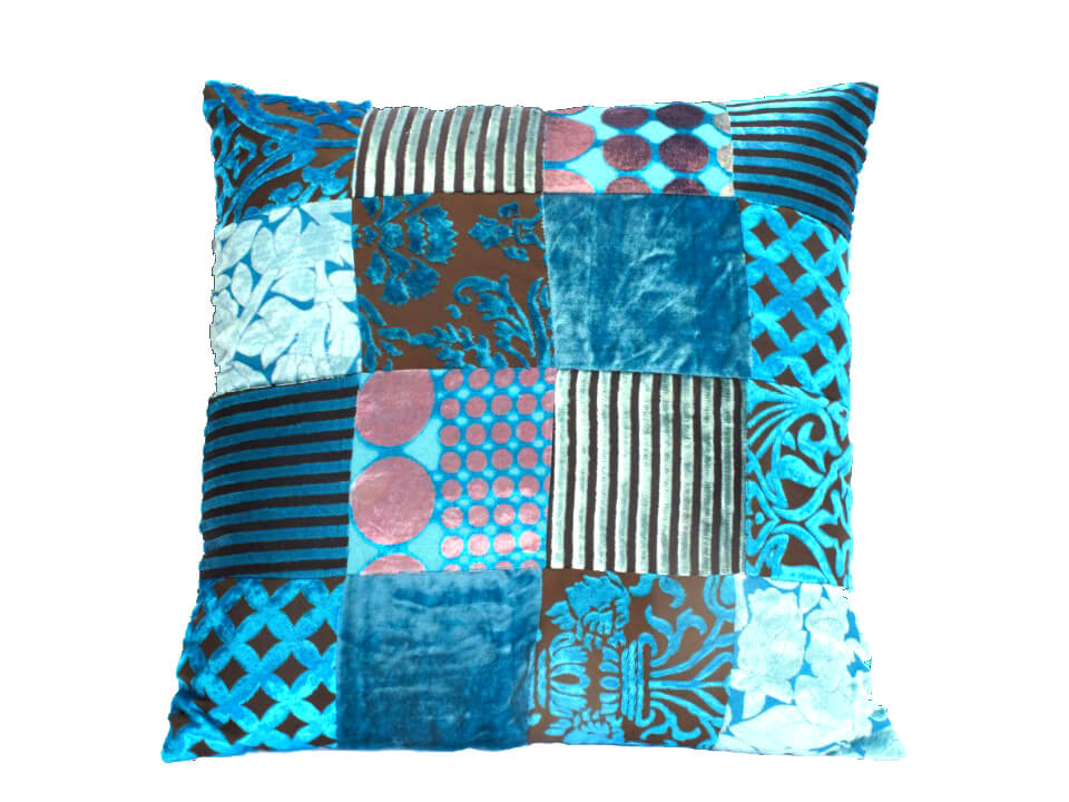 Oosters|kussens|patchwork|turquoise